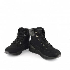 Ženske duboke cipele na platformu LH051401CR crne