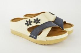Ženske papuče na platformu PFH403-002 bele