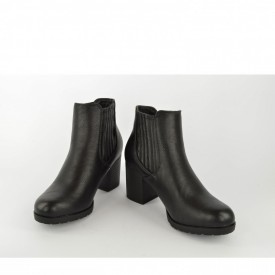 Ženske poluduboke čizme na štiklu LH95252 crne