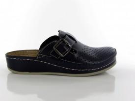 Kožne ženske papuče - Klompe D134-P teget