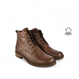 Kožne muške duboke cipele 856BR braon