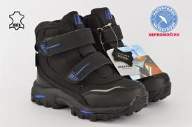 Kožne NEPROMOČIVE dečije duboke cipele 34111 crne
