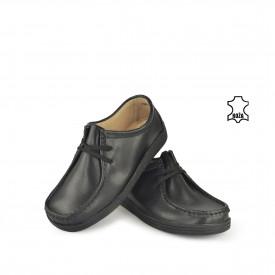 Kožne ženske cipele 1120-1CR crne