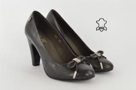 Kožne ženske cipele na štiklu 452 crne
