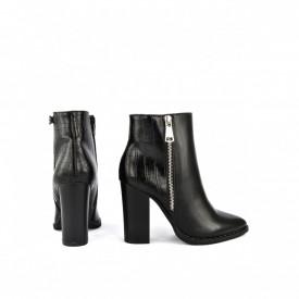 Kratke čizme na štiklu LH051733CR crne