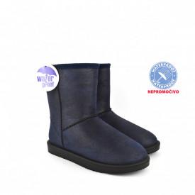 NEPROMOČIVE ženske duboke čizme - Šunjalice LH086655TT teget