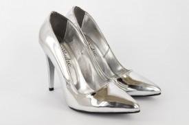 Ženske cipele na štiklu - Salonke 5010-S srebrne