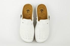 Ženske papuče - Klompe SBP-063B bele