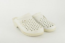 Ženske papuče - Klompe CV-B bele