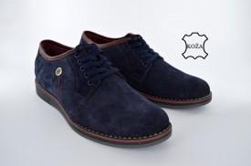 Kožne muške cipele 641 plave