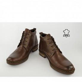 Kožne muške duboke cipele 656-2 braon