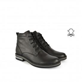 Kožne muške duboke cipele 856CR crne