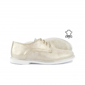 Kožne ženske cipele 909BE bež