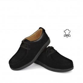 Kožne ženske cipele 94943CR crne
