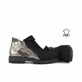 Kožne ženske duboke cipele H20K4339CR crne