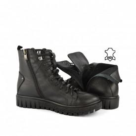Kožne ženske duboke cipele S8300CR crne