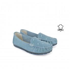 Kožne ženske espadrile L53138PL plave