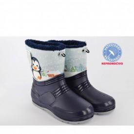 NEPROMOČIVE zimske dečije čizme 00453-P teget