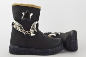 Postavljene dečije duboke cipele 04-P teget