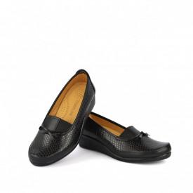 Ženske cipele na platformu 015CR crne