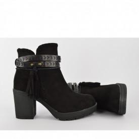 Ženske čizme na štiklu WSB10024 crne
