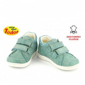 Kožne dečije cipele 474-Z sa anatomskim uloškom zelene