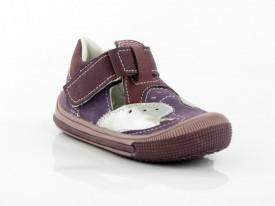 Kožne dečije sandale 043 sa anatomskim uloškom ljubičaste