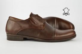 Kožne elegantne muške cipele 307-B braon