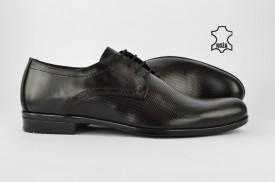 Kožne elegantne muške cipele 418-C crne