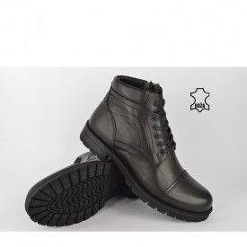 Kožne muške duboke cipele 321CR crne