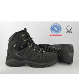 Kožne NEPROMOČIVE muške duboke cipele 34629DCR crne