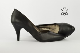Kožne ženske cipele na štiklu 208LC crne