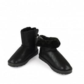 Ženske poluduboke čizme - Šunjalice LH075027-2CR crne
