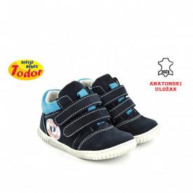 Kožne dečije cipele 523-T sa anatomskim uloškom teget