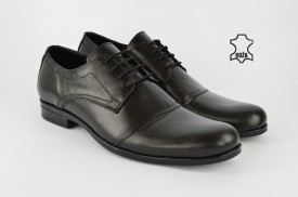 Kožne elegantne muške cipele 417 crne