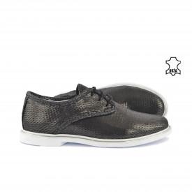 Kožne ženske cipele 812SV sive