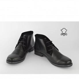Kožne ženske duboke cipele 553CR crne