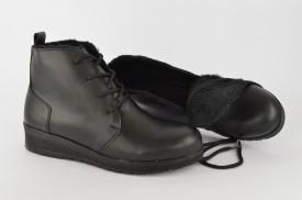 Postavljene ženske duboke cipele 481-008 crne