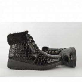Postavljene ženske duboke cipele LH77420-1 crne