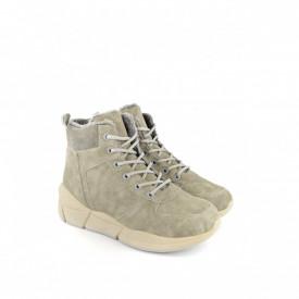 Postavljene ženske duboke cipele na platformu LH051400SV sive