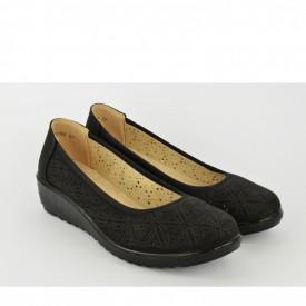 Ženske cipele na platformu L90756 crne
