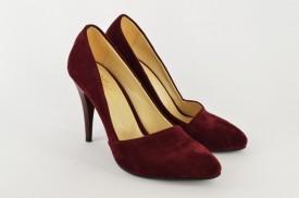 Ženske cipele na štiklu - Salonke 1585-CV bordo