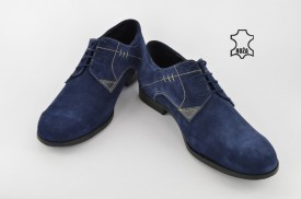 Kožne muške cipele 010-P plave