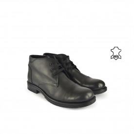 Kožne muške duboke cipele 616009CR crne