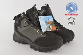 Kožne NEPROMOČIVE dečije duboke cipele 34589 crne