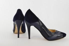 Ženske cipele na štiklu - Salonke 1522 teget