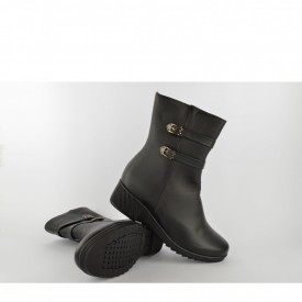 Ženske duboke cipele na platformu LH77406 crne