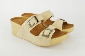 Ženske papuče na platformu PFH104021B bež