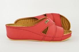 Ženske papuče na platformu PFH40803 bordo