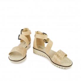 Ženske sandale na platformu WSL08022ZT zlatne